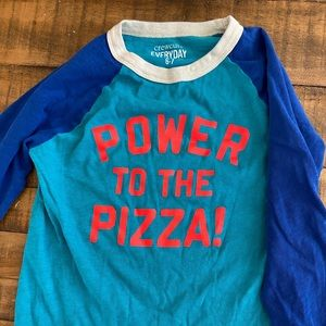 "Boys Crewcuts ""Power to the Pizza"" Tee"